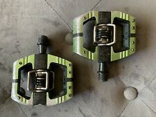 Crank Brothers Mallet E (Enduro) Clipless Pedals with Platform Green DH Race