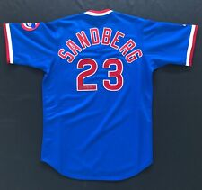 Ryne Sandberg Signed Autographed Blue Cubs Cooperstown Collection Jersey W/COA