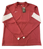 NWT $80 NIKE Therma Team Authentic Men's 1/2 Zip Long Sleeve Top Maroon Size XL