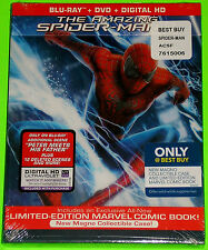 The Amazing Spider-man 2 Blu-ray 4K DVD (New) New Magno Case & Comic Book