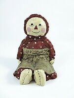 Constance Collection Vintage Sitting Raggedy Ann Figurine Signed Hand Painted 87