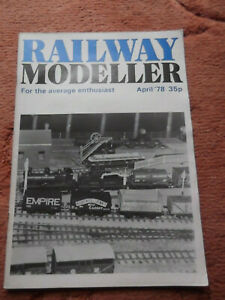 Railway Modeller Magazine April 1978 Used but in good condition for age