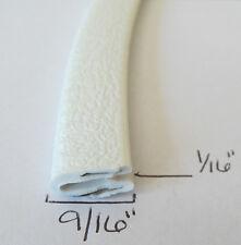 "1/16"" x 9/16"" WHITE Edge Trim Vinyl PVC Trailer RV Boat Seal Lock Permanent Grip"