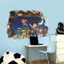 Paw Patrol Wall Sticker Nursery, child, Marshall, Chase, Rubble, Rocky, Skye