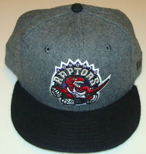 Toronto Raptors Grey Black New Era Cap Hat NBA Basketball 59fifty Fitted 7 3/8