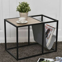 End Table Side Accent Metal Magazine Organizer Living Room Office