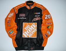 Authentic  Nascar Tony Stewart home depot Leather Jacket New  With tag  XXL