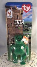 Ty Erin The Bear Ireland Irish Beanie Baby Ronald McDonald House Collectible New
