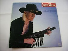JOHNNY WINTER - SERIOUS BUSINESS - LP VINYL ITALY 1985 EXCELLENT CONDITION