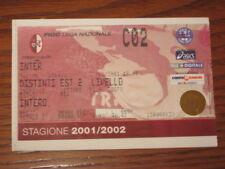TORINO INTER BIGLIETTO TICKET 2001/02