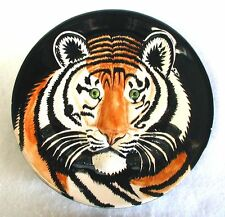 Fitz & Floyd Ff Sculpted Plate Bengal Tiger Face '92 Philippines 8-5/8 Fleabites