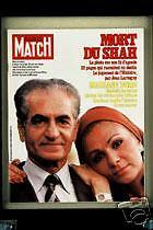 PARIS MATCH Deces Shah Borg Onassis Ventura Alvina
