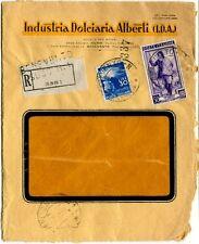1951 Italia al Lavoro RACCOMANDATA Industria Dolciaria Alberti Benevento 30 lire