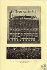 Old print Amsterdam het nieuws van den dag 1907 pand antique