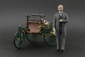 Karl Benz Figure for 1:18 Mercedes Norev VERY RARE!  !! NO CAR !!
