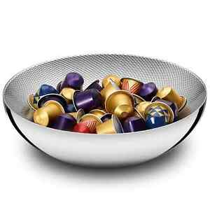 """NESPRESSO Alessi """"Double"""" Limited Edition polished stainless steel Bowl"""