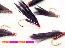 Jaune Hibou Or Holographique Rouge joue Truite Buzzers Truite Pêche mouches Buzzers