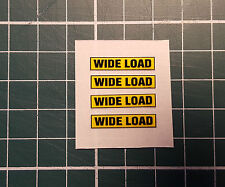"1/50 scale ""WIDE LOAD"" signs for Lorry/Truck Trailers  (set of 4 self adhesive)"