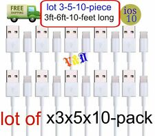 LOT 3-6-10 feet USB 8pin Charger Cable Cord Compatible With iPhone 5 5C 5S 6-7+8