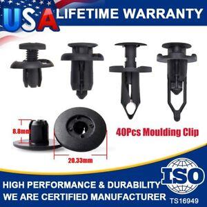 40Pcs Car Push Retainer Pin Body Bumper Rivet Trim Moulding Clip Accessories Kit