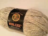 1 SKEIN LION BRAND WOOL EASE YARN! 6 OZ / 108 YDS COLOR WHEAT WOOL ACRYLIC RAYON