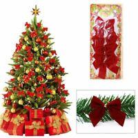 partie arbre de noël la pendaison le décor bowknot le papillon. décoration