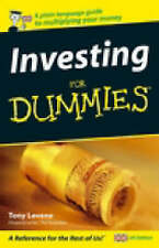 Investing for Dummies: UK Edition by Levene, Tony Paperback Book The Cheap Fast