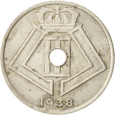 Monnaies, Belgique, 25 Centimes, 1938, Nickel-brass, KM:115.1 #48808