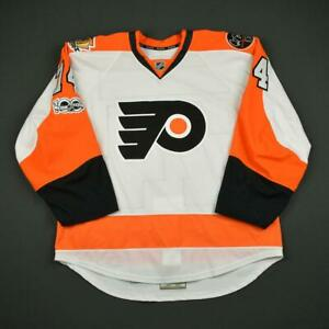 2016-17 Mike Vecchione Philadelphia Flyers Game Issued Reebok Hockey Jersey NHL