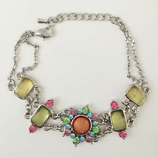 Lobster Clasp Adjustable Bracelet Br1333 New Floral European Style Silver Plated