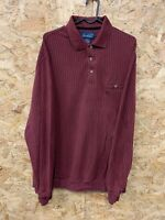 Vintage Long Sleeve Polo Shirt Rugby Top Men's Size M Arnold Palmer Striped