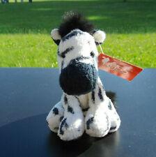 "5"" Russ Berrie Zeke Zebra Plush Bean Bag Plush Black White Stripe"
