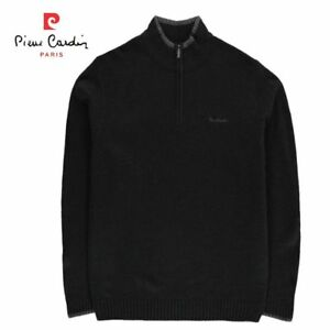 PULL PIERRE CARDIN HOMME COL CHEMINEE SWEAT, TRICOT, 1/4 ZIPPE