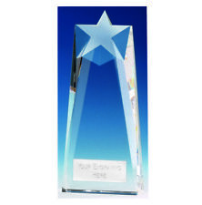 Principle Star Optical Crystal Glass Trophy - Free Engraving