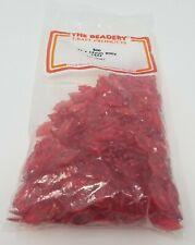 Vintage The Beadery Manualidades Productos Rojo Rubí Acrílico Holly Hojas 21mm