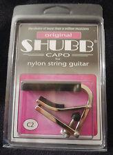 New Shubb C2 Original style  C Series Nylon String brushed Nickel Capo NIB