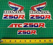 1987 87' ATC 250R 4pc Honda Fender stickers ATV TRX decals logos HRC FREE SHIP