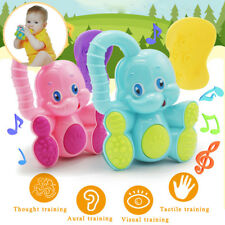 Safe Baby Toddler Teether Hand Shake Bell Ring Fun Educational Elephant Toy Gift