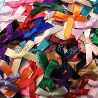 Satin Ribbon Bows 3mm, 7mm or 15mm - Choose Colour, Width and Pack Size Free P&P