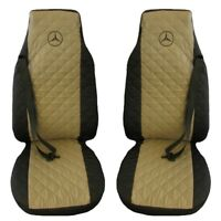 Mercedes Actros MP4 after 2015 Truck Seat Covers 2 pieces Black and Beige