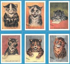 LOUIS WAIN ATTITUDE COMPLETE SET OF SIX CAT CARDS BY CRYSTAL CAT CARDS