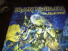 "IRON MAIDEN SIGNED RECORD ""LIVE AFTER DEATH "" NICKO + HARRIS  VINTAGE! L@@K RARE"