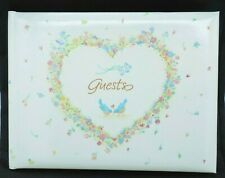 Hallmark Wedding Guest Signature Book Heart Bluebirds Flowers Of Love White