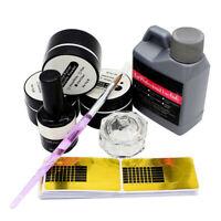 Professional Nail Art Acrylic Powder Liquid Primer Tips Practice Tool Full Kits