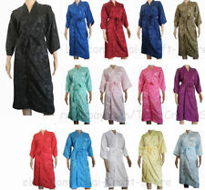 Silk Blend Robe Floral Regular Size Nightwear for Women