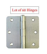 """60 Satin Nickel 3.5"""" X 1/4"""" Radius Door Hinges Brushed Nickel  free shipping"""