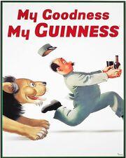 SANTO cielo la mia Guinness, Vintage con Alluminio Metallo Muro Segno