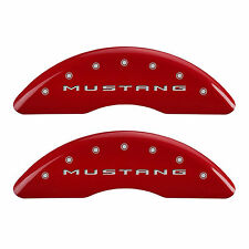 2015-2016 MGP Ford Mustang/ Bar & Pony Caliper Covers Front Rear Red 10200SMB2RD