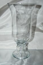 Hurricane Candle Holder Handmade MEXICO Glass REVERSE Taper Pillar