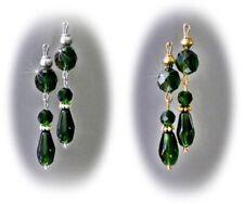 Emerald Glass Drop/Dangle Fashion Earrings